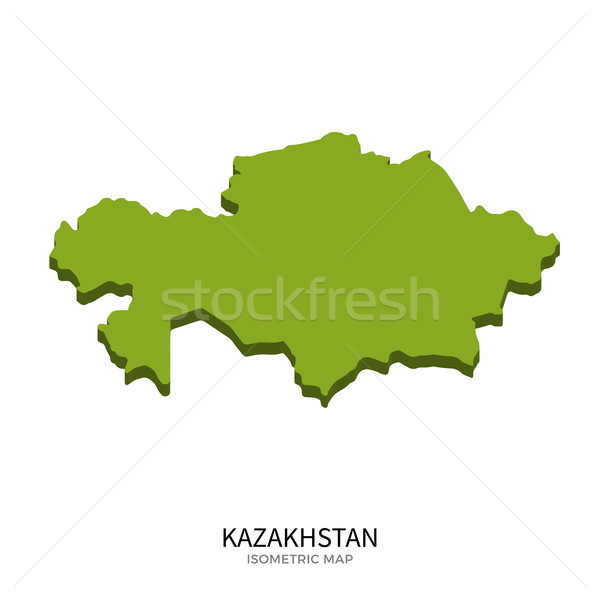 Isometric map of Kazakhstan detailed vector illustration Stock photo © tkacchuk