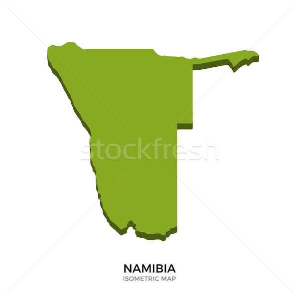 Isometric map of Namibia detailed vector illustration Stock photo © tkacchuk