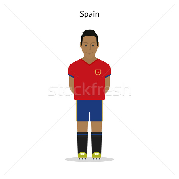 Futebol Espanha jogador de futebol forma futebol Foto stock © tkacchuk