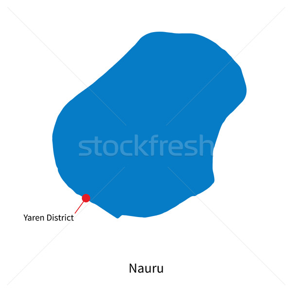 Detailed vector map of Nauru and capital city Yaren District Stock photo © tkacchuk