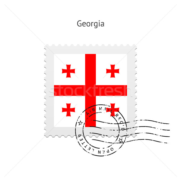 Грузия флаг почтовая марка белый знак письме Сток-фото © tkacchuk