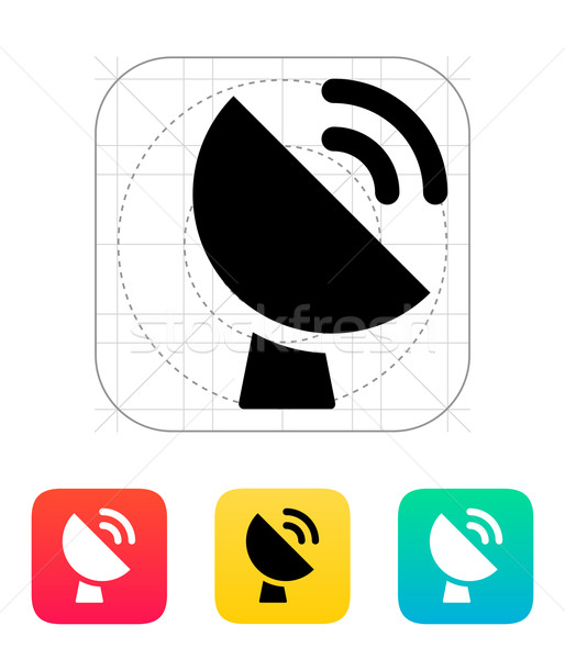 Radio radar transmitting signal icon. Stock photo © tkacchuk
