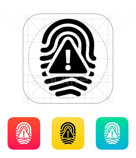 Fingerprint scan error icon. Stock photo © tkacchuk