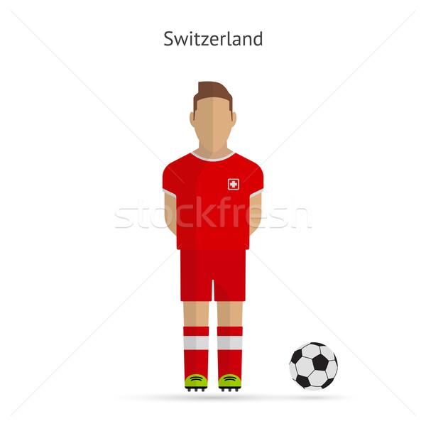 İsviçre futbol takım üniforma adam Stok fotoğraf © tkacchuk