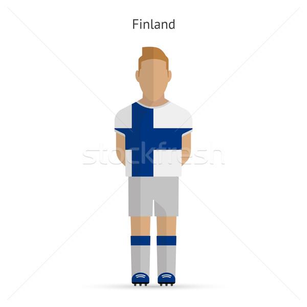 Finland voetballer voetbal uniform abstract fitness Stockfoto © tkacchuk