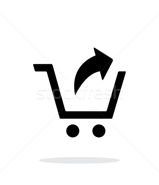 Remove from shopping cart simple icon on white background. Stock photo © tkacchuk