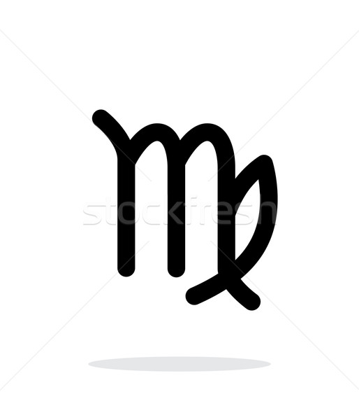 Stock photo: Virgo zodiac icon on white background.