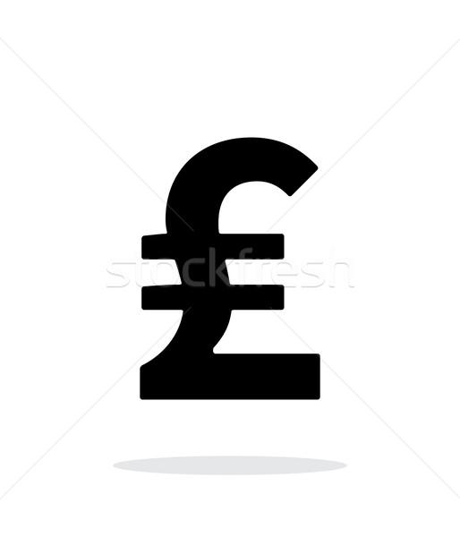 Funt ikona biały działalności ceny finansów Zdjęcia stock © tkacchuk