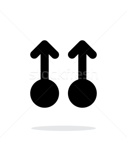 Two Finger drag up gesture abstract icon. Stock photo © tkacchuk