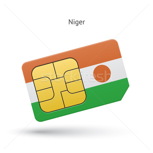 Niger mobile phone sim card with flag. Stock photo © tkacchuk