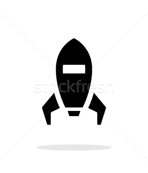 Spaceship simple icon on white background. Stock photo © tkacchuk
