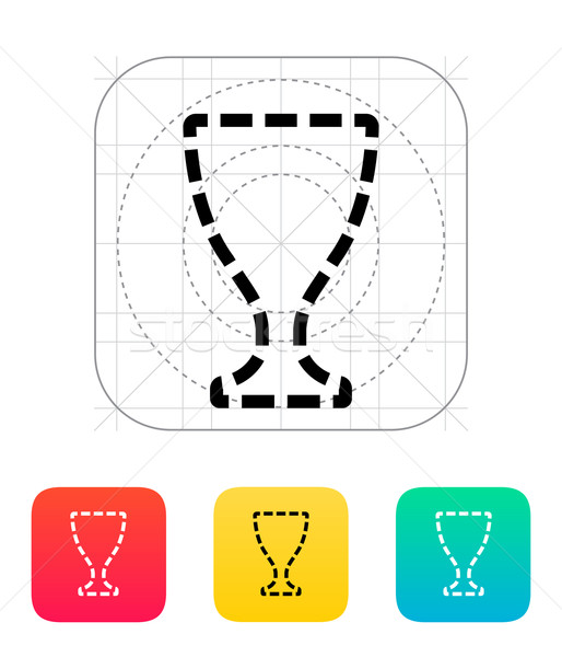 Trophy cup silhouette icon Stock photo © tkacchuk