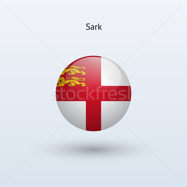 Stock photo: Sark round flag. Vector illustration.