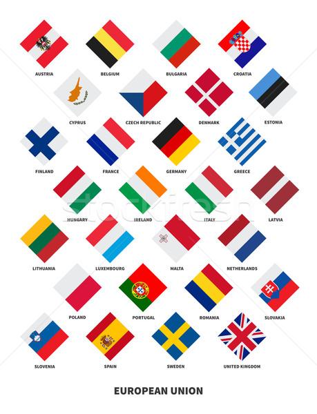 Member state of the European Union flags Rhombus form Stock photo © tkacchuk