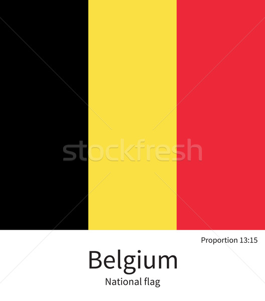 National flag of Belgium with correct proportions, element, colors Stock photo © tkacchuk