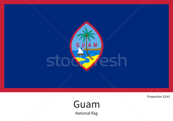 National flag of Guam with correct proportions, element, colors Stock photo © tkacchuk