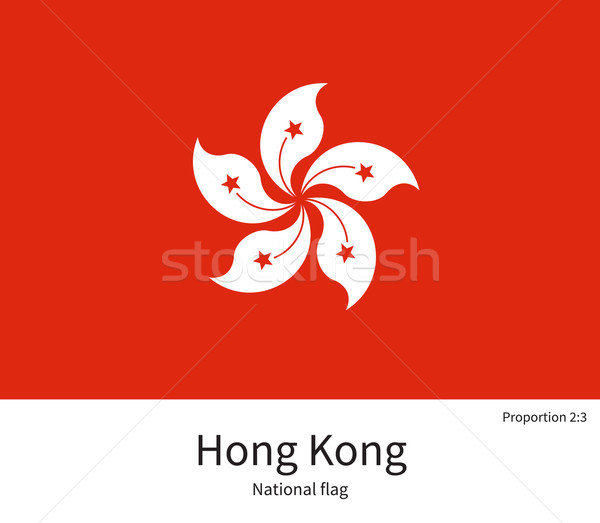 National flag of Hong Kong with correct proportions, element, colors Stock photo © tkacchuk