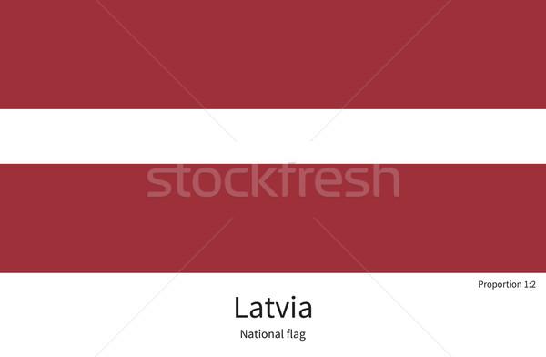 Vlag Letland corrigeren element kleuren onderwijs Stockfoto © tkacchuk