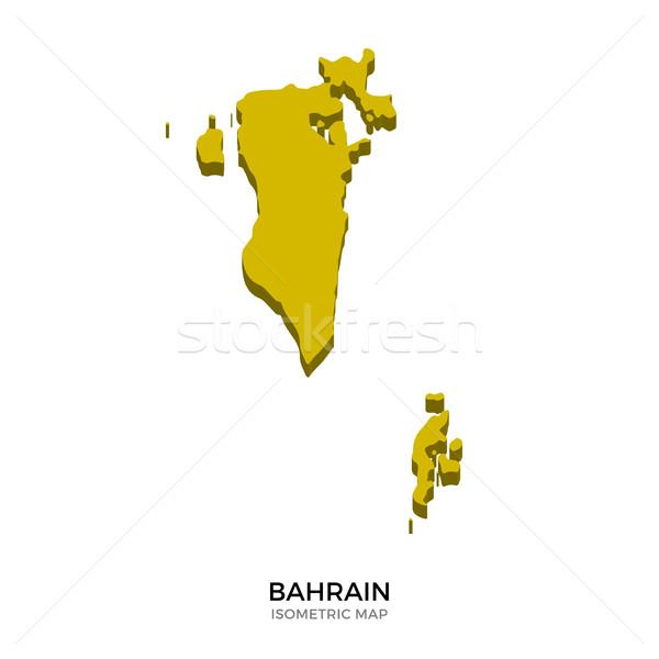 Isometric map of Bahrain detailed vector illustration Stock photo © tkacchuk