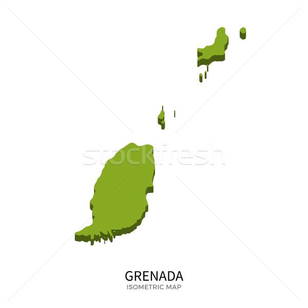 Isometric map of Grenada detailed vector illustration Stock photo © tkacchuk