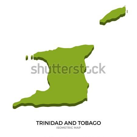 アイソメトリック 地図 ハイチ 詳しい 孤立した 3D ストックフォト © tkacchuk