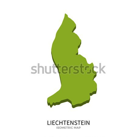 Isometric map of Liechtenstein detailed vector illustration Stock photo © tkacchuk
