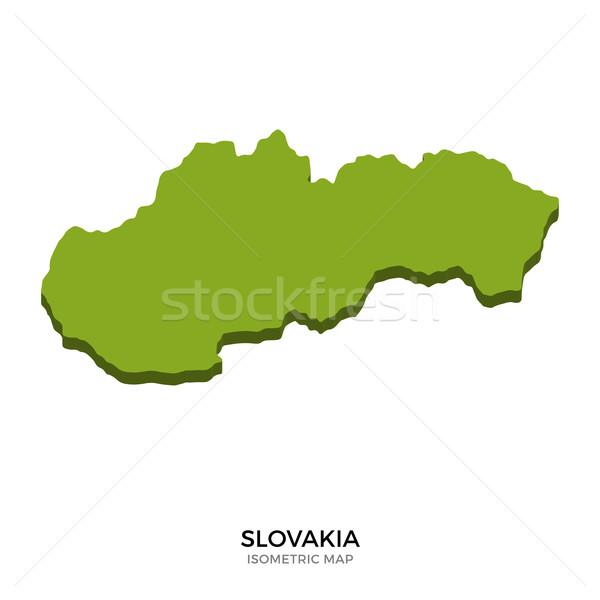 Isometrica mappa Slovacchia dettagliato isolato 3D Foto d'archivio © tkacchuk