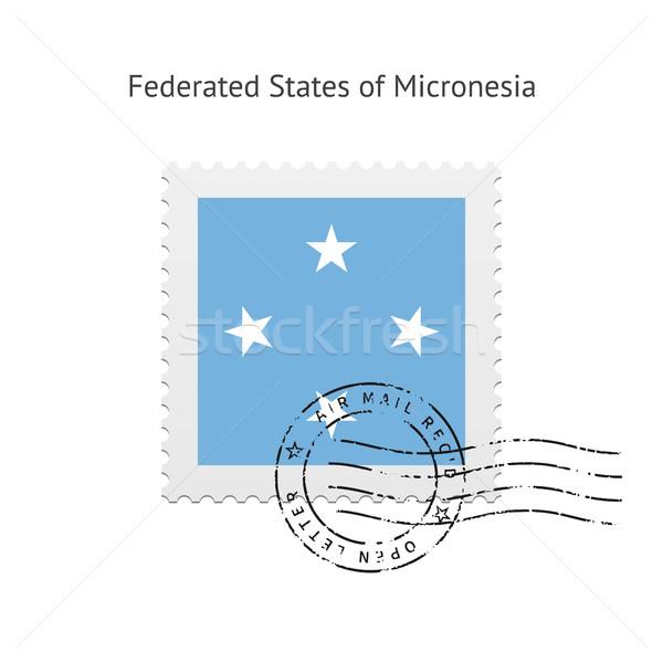 Micronesia Flag Postage Stamp. Stock photo © tkacchuk