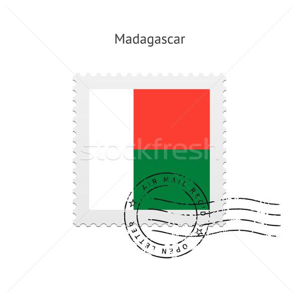 Madagascar Flag Postage Stamp. Stock photo © tkacchuk