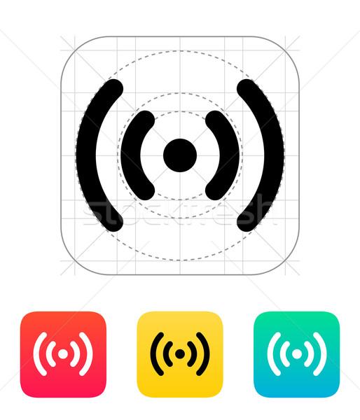 Radio olas icono tecnología inalámbrica negocios Internet Foto stock © tkacchuk