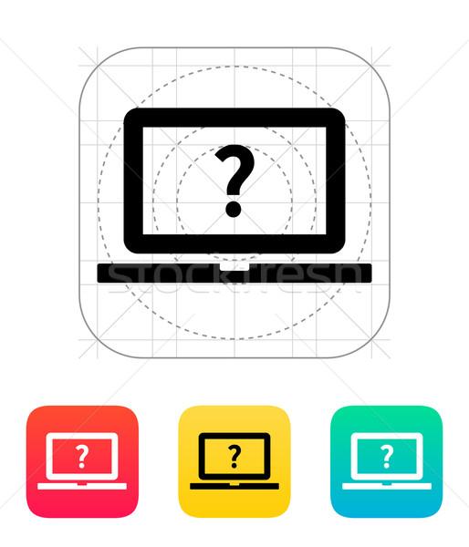 Ajudar faq laptop ícone abstrato projeto Foto stock © tkacchuk
