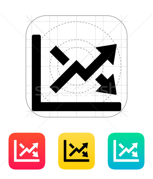 Stock photo: Charts icon.