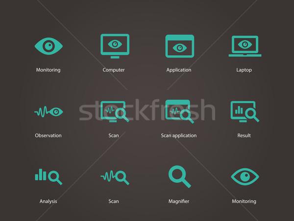 Monitoring icons. Stock photo © tkacchuk