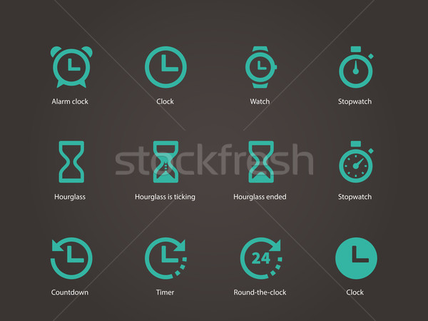 Time and Clock icons. Stock photo © tkacchuk