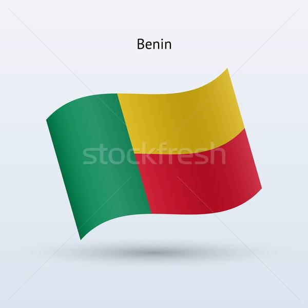 Benin bandiera forma grigio segno Foto d'archivio © tkacchuk