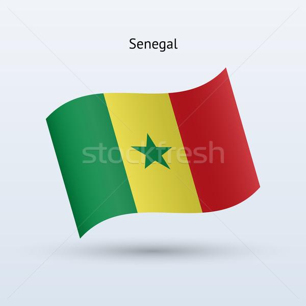 セネガル フラグ フォーム グレー にログイン ストックフォト © tkacchuk