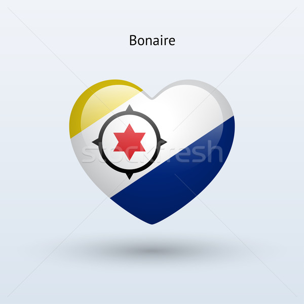 Love Bonaire symbol. Heart flag icon. Stock photo © tkacchuk