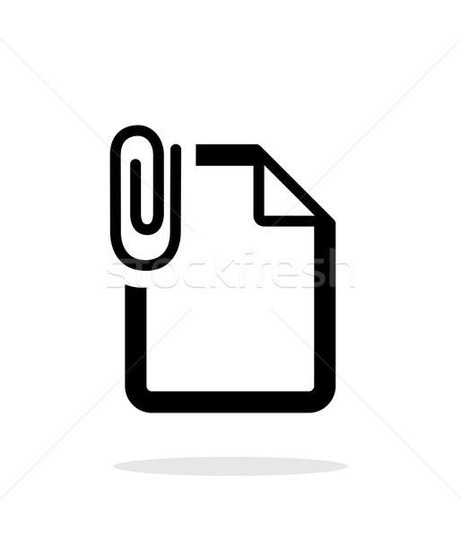 Attached file icon on white background. Stock photo © tkacchuk