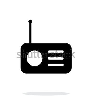 Radio icon on white background. Stock photo © tkacchuk
