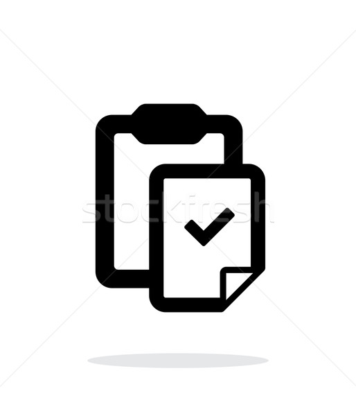 Check file with clipboard simple icon on white background. Stock photo © tkacchuk