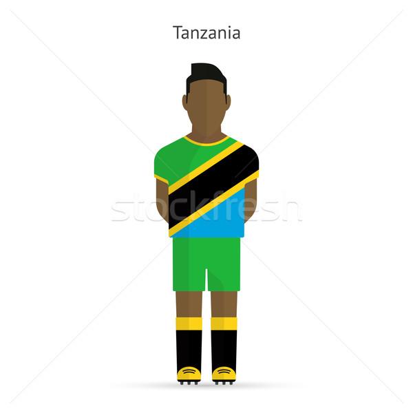 Tanzanya futbol üniforma soyut uygunluk Stok fotoğraf © tkacchuk