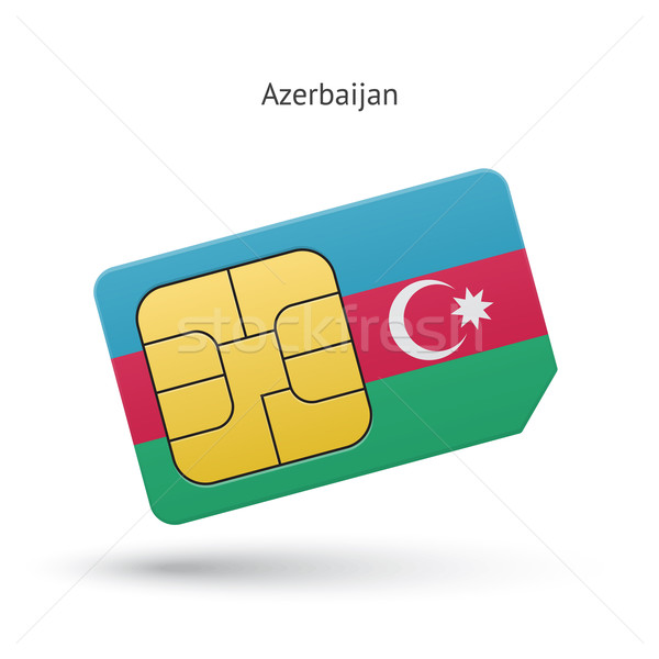 Azerbaiyán teléfono móvil tarjeta bandera negocios diseno Foto stock © tkacchuk