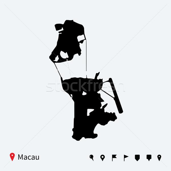 Alto detallado vector mapa navegación viaje Foto stock © tkacchuk