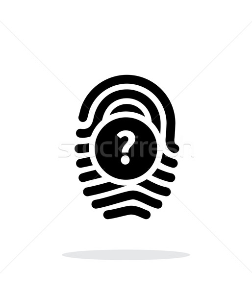 Question mark, FAQ sign. Fingerprint icon on white background. Stock photo © tkacchuk