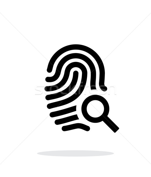 Fingerprint and thumbprint icon on white background. Stock photo © tkacchuk