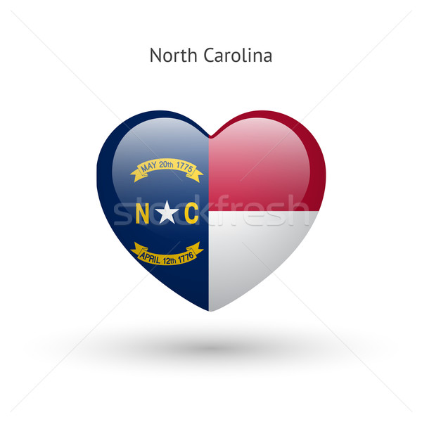 Love North Carolina state symbol. Heart flag icon. Stock photo © tkacchuk