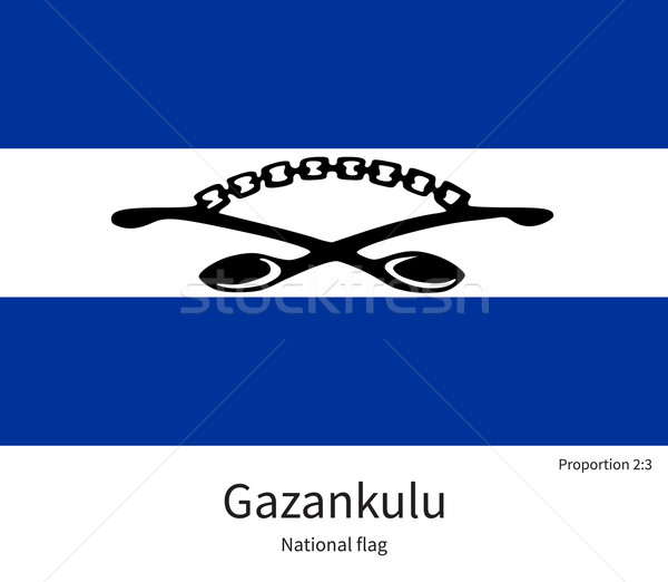 National flag of Gazankulu with correct proportions, element, colors Stock photo © tkacchuk