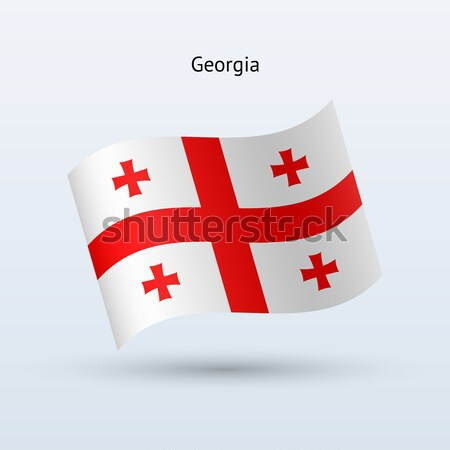 Credit card with Georgia flag background for bank, presentations and business. Isolated on white Stock photo © tkacchuk