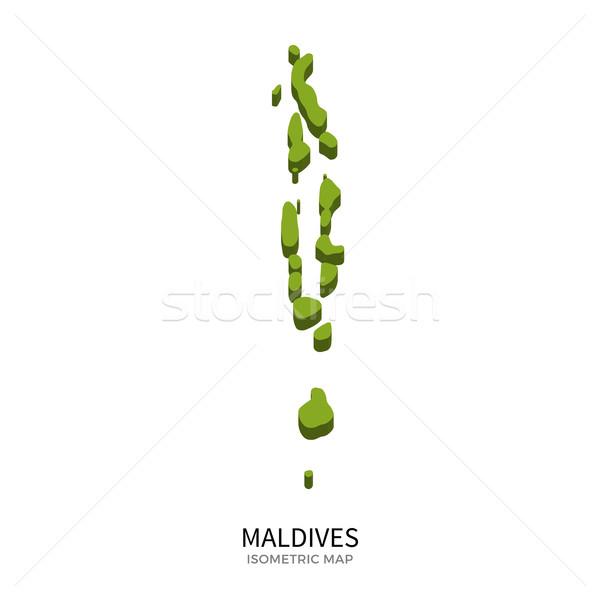 Isometric map of Maldives detailed vector illustration Stock photo © tkacchuk
