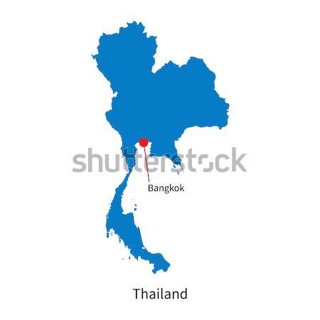 Gedetailleerd vector kaart Thailand stad Bangkok Stockfoto © tkacchuk